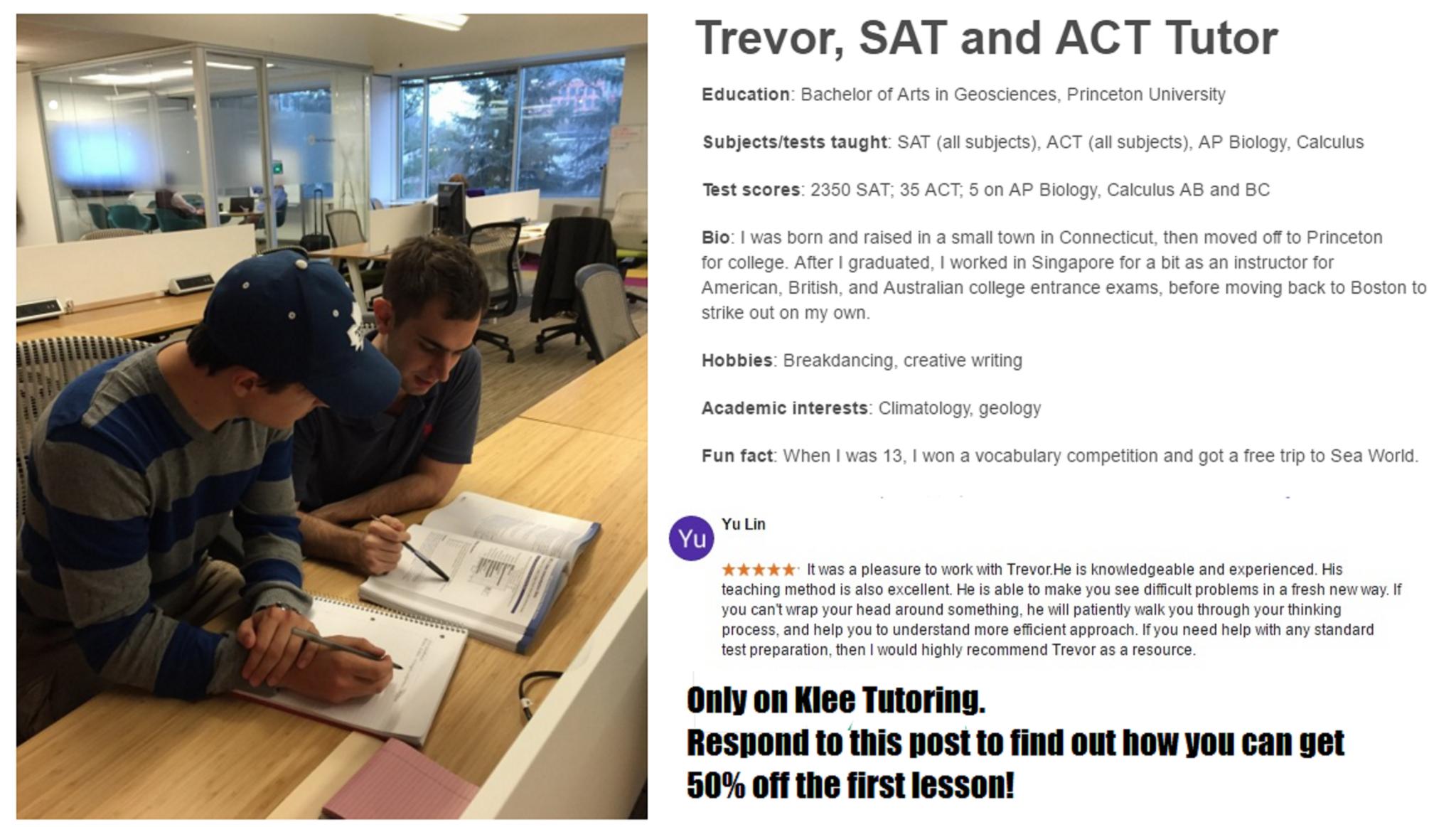 Craigslist ad 2   Trevor Klee, Tutor