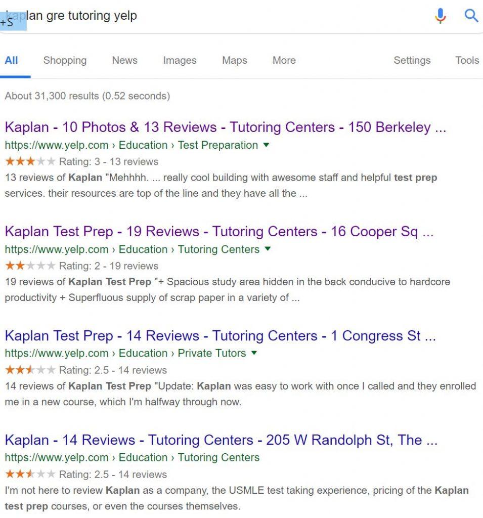 Kaplan GRE tutoring reviews